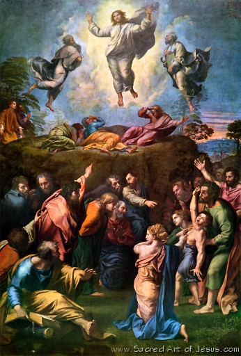 Sacred Art of Jesus/Biblical Scenes/The Transfiguration ...
